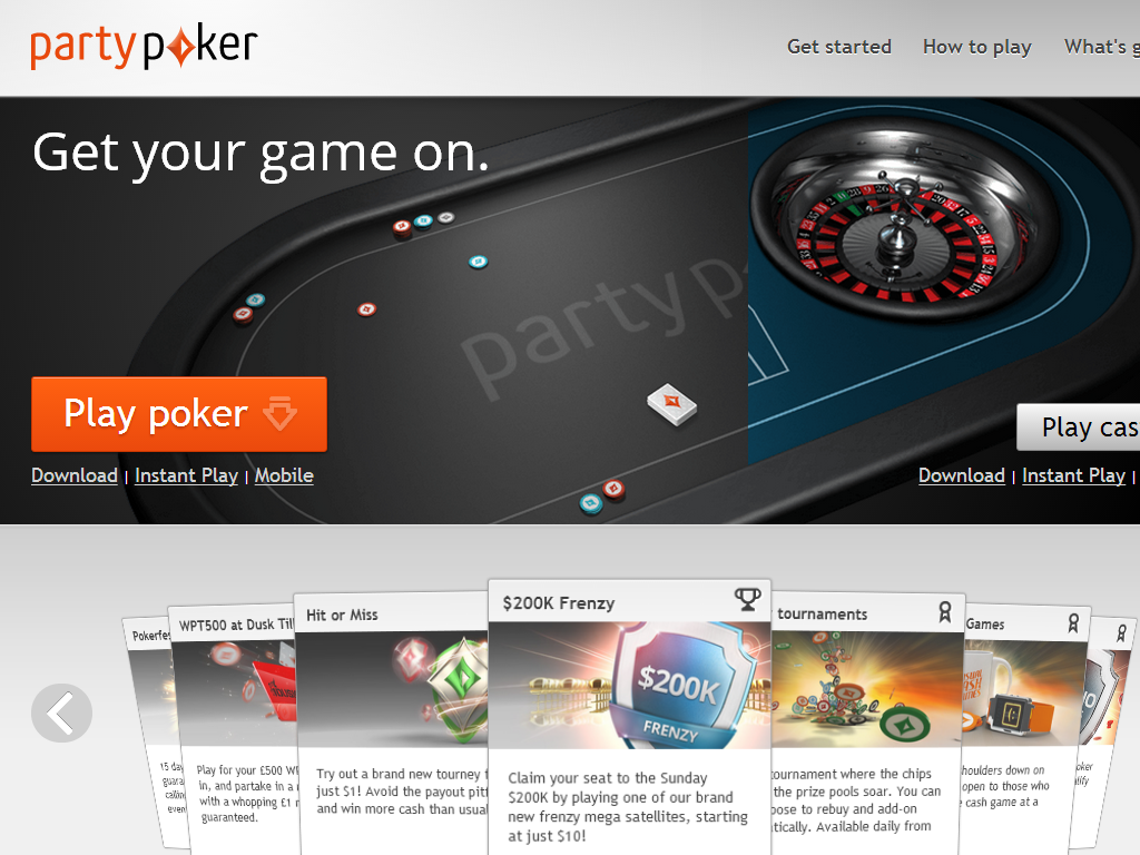 Party poker withdrawal options