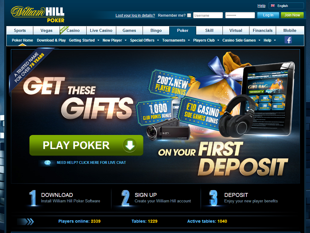 William hill online chat