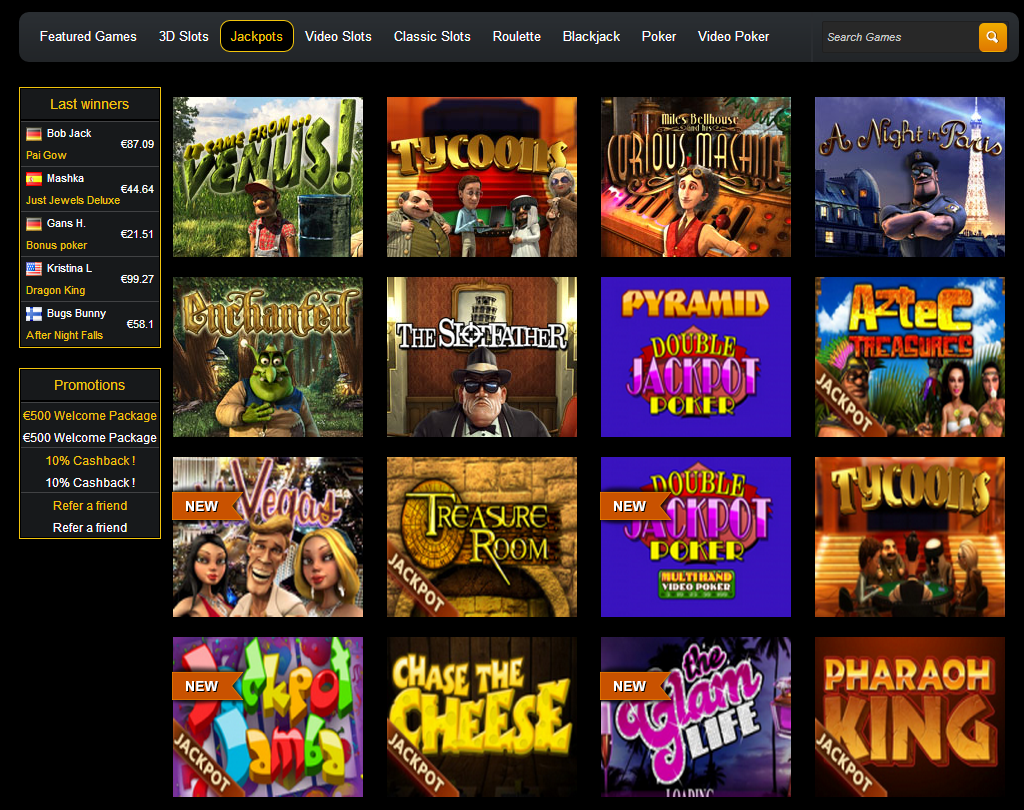 online casino games reviews jackpot online