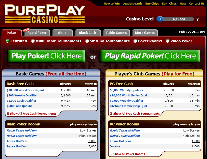 pure play casino