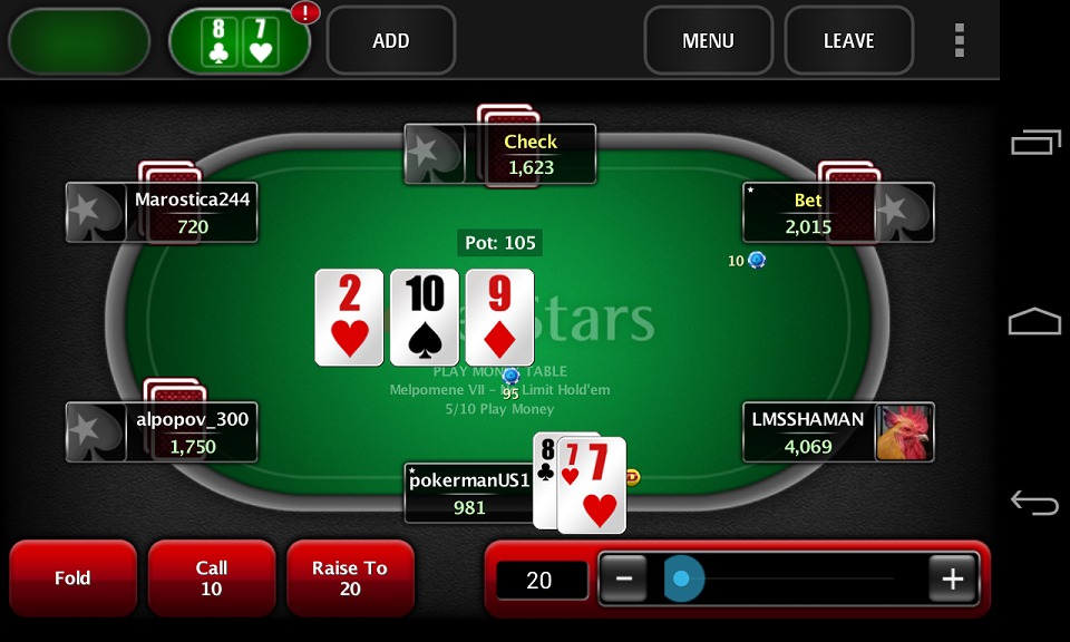 Poker set over set