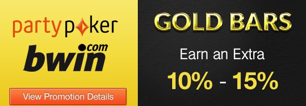 Party Gaming Gold Bars Promotion Banner