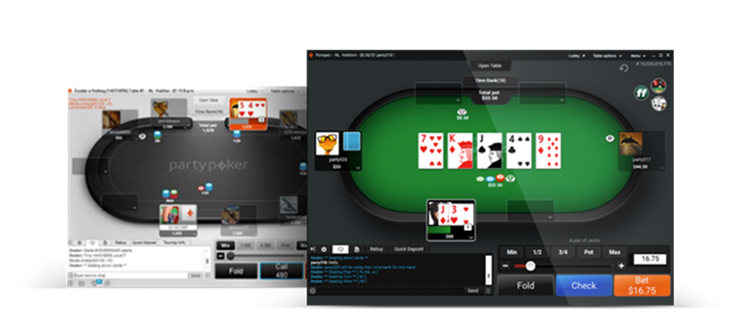 partypoker new table theme